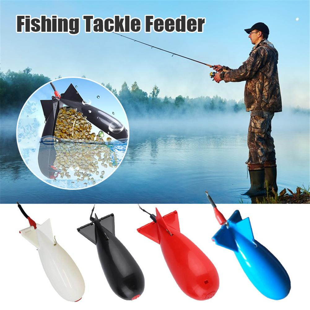 Outdoor Fishing Gear Bomb Feeder Fishing Rocket Feeder Float Bait Connector Fishing Tackle Feeder For River Reservoir Tool