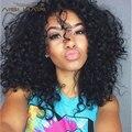 Pelo peruano de la Virgen 3 Bundles Cheveux Humana Rizada Rizada Virginal Sin Procesar Tejer Del Pelo Rizado Rizado Afro Rizado Armadura Del Pelo Humano