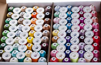 Wholesale 120 Assorted Colors 100% Polyester Embroidery Thread 1000M/Spool Free Shipping - DISCOUNT ITEM  8% OFF All Category