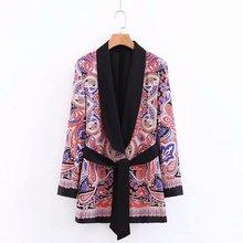 Blazer women temperament printing loose long sleeves suit ladies jacket 2019 autumn new womens clothing