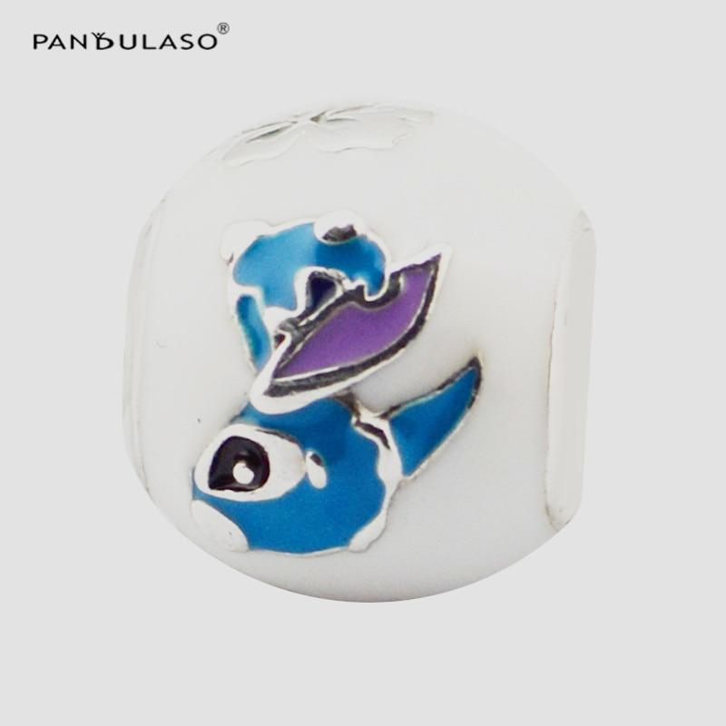 Pandulaso 925 Sterling Silver Beads Lilo & Stitch Charm Mixed Enamel Fits Original Bracelets for Women Jewelry Making