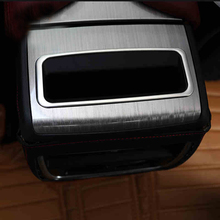 цена на Stainless Steel For Nissan Murano 2015 2016 2017 2018 Accessories Rear Storage Box Sequins Cover Trim Sticker Car Styling 1pcs