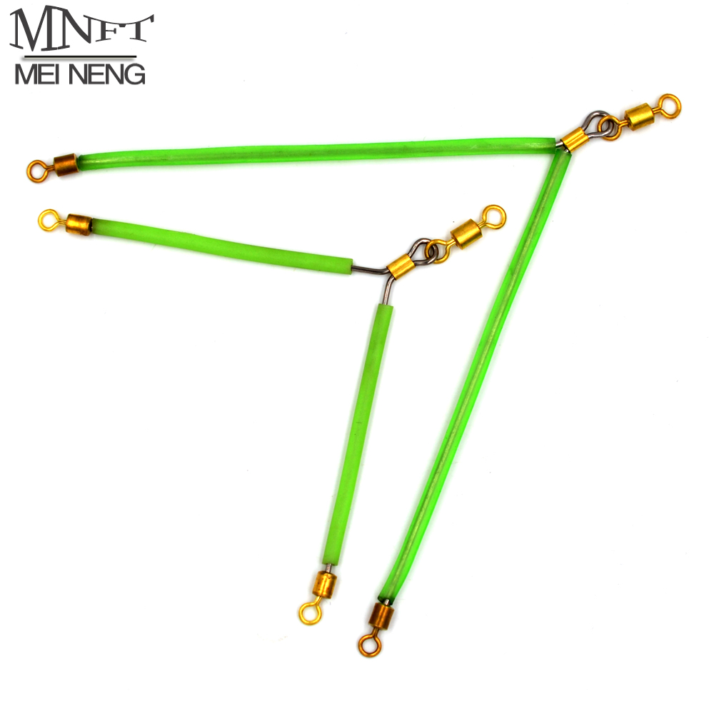 MNFT 6Pcs Luminous Stainless Steel Anti Tangle Booms With Swivel Hook Lure Connector Supplies Sea /Boat Fishing Tackle