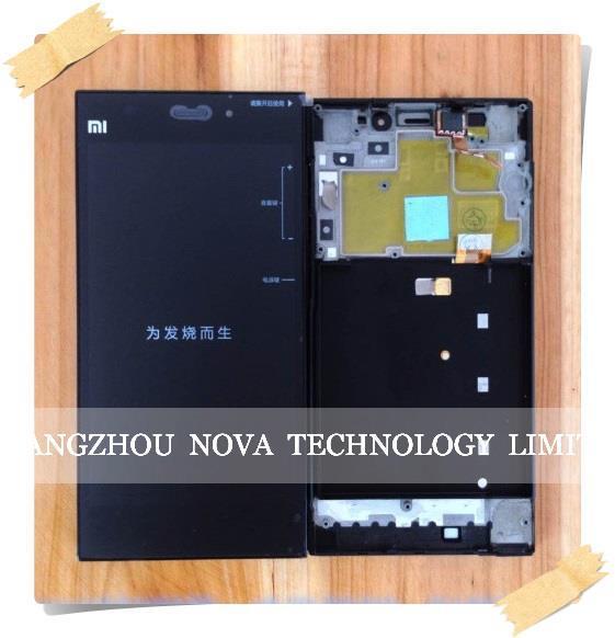 Original para xiaomi mi3 m3 screen display lcd + de toque digitador de vidro + quadro assembléia wcdma/td-scdma; HK Frete Grátis