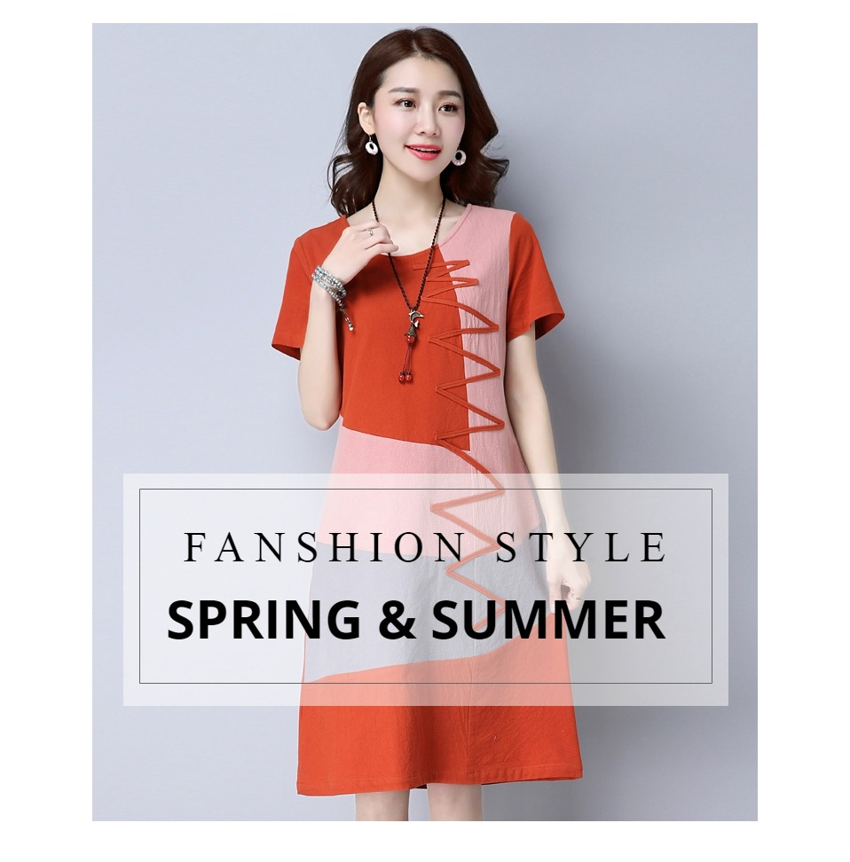 Summer Dress Women Beach Dress Short Sleeve 121