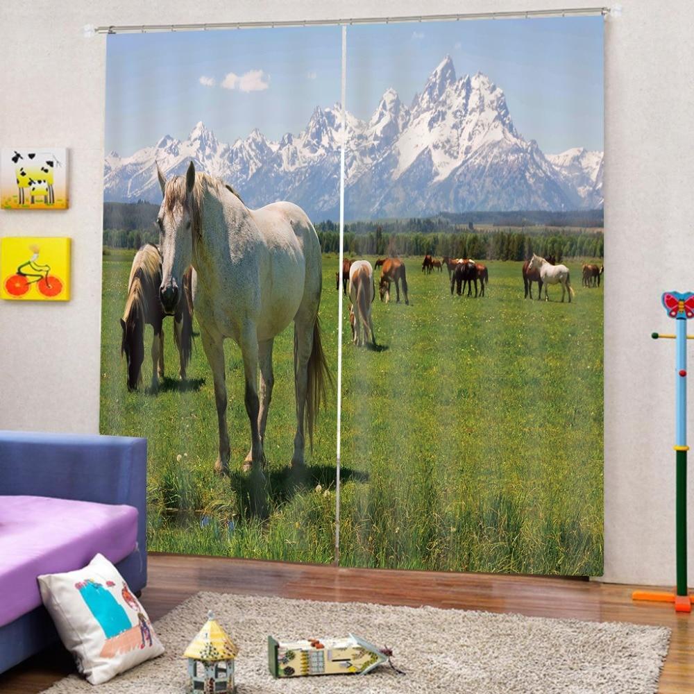 Personnaliser 3D rideaux cheval rideaux pour salon mariage chambre moderne rideaux occultants