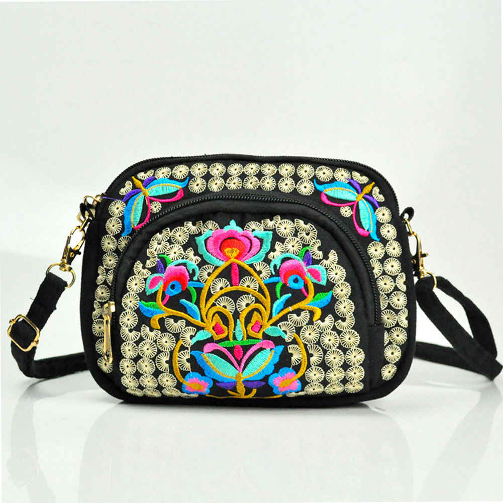 4742af7f29dedb Embroidery Floral Women Messenger Bag Hmong Vintage Chinese National Style  Crossbody Shoulder Bag Boho Hippie Travel