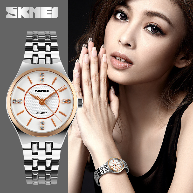 SKMEI Women Fashion Casual Quartz Watch Relogio Feminino Relojes Mujer Stainless Steel Waterproof  Wristwatches Ladies Watches relojes mujer 2016 quartz watch women watches relogio feminino women s leather dress fashion brand skmei waterproof wristwatches
