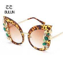 D-BULUN Señoras de La Manera Rhinestone Del Ojo de Gato gafas de Sol de Lujo Gafas de Diseñador de la Marca Mujeres Sexy Sombra Gafas De Sol Gafas Feminino