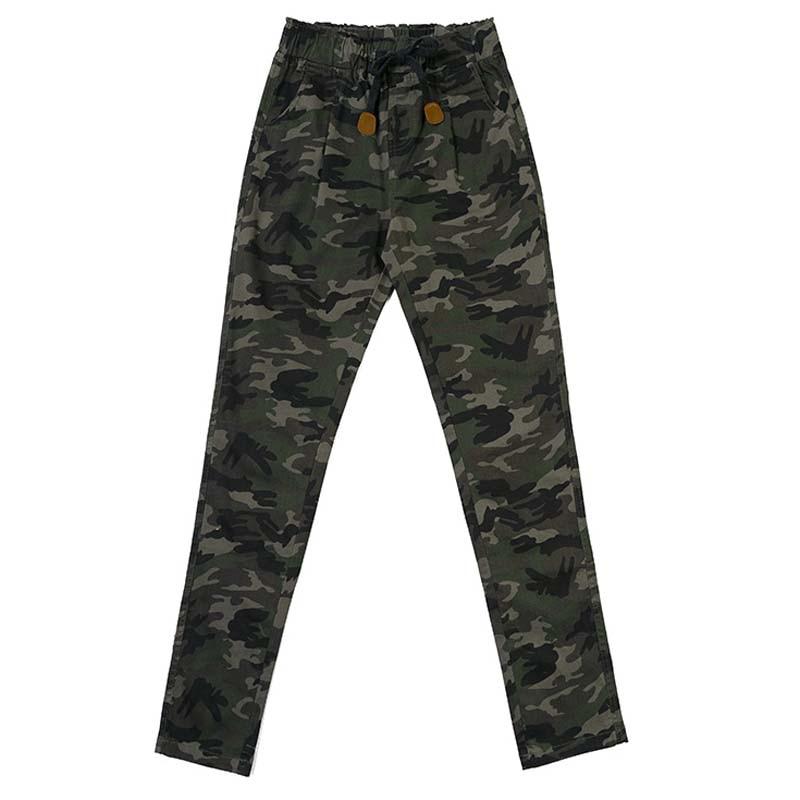 Камуфляжные штаны, женские повседневные брюки, штаны со средней талией для женщин
