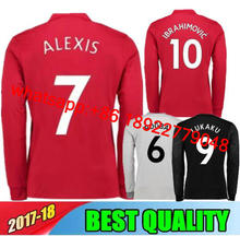 8c232b198 17 18 POGBA Manchesteer Long sleeves soccer jerseys football shirt ALEXIS  LINDELOF Ibrahimovic MKHITARYAN LUKAKU MARTIAL united