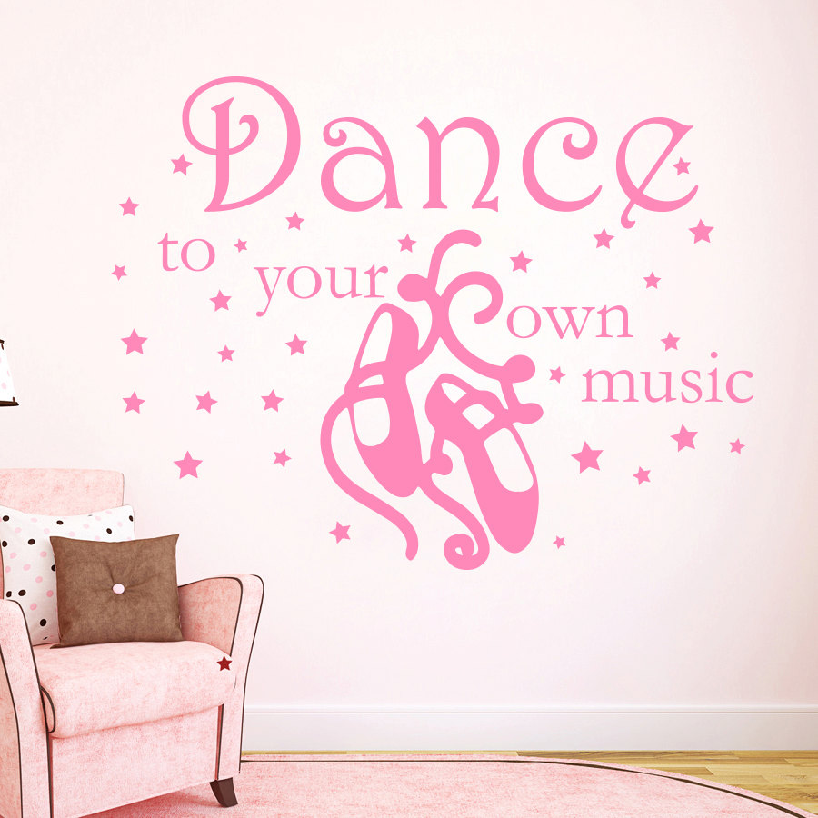 DIY Vinyl Wall Decals Quote Dance to your own music Girl ...