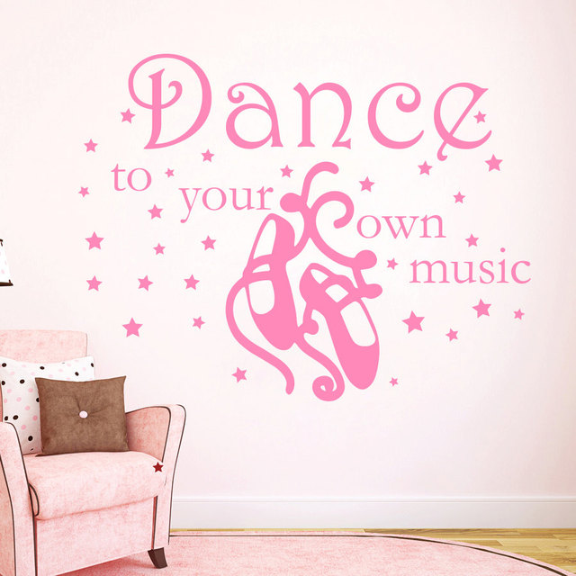 Diy Vinyl Wall Decals Quote Dance To Your Own Music Girl Dancer