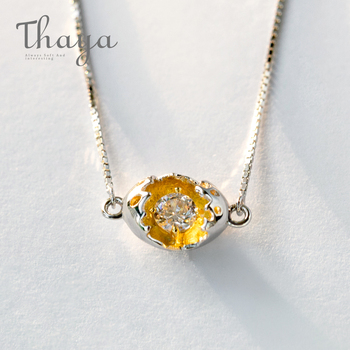 Thaya Gold Cocoon-Break Pendant Necklace...