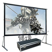 Big Quick Install Heavy Duty Frame Projector Projection Screen 250inch 16:9 Widescreen With Transport Case
