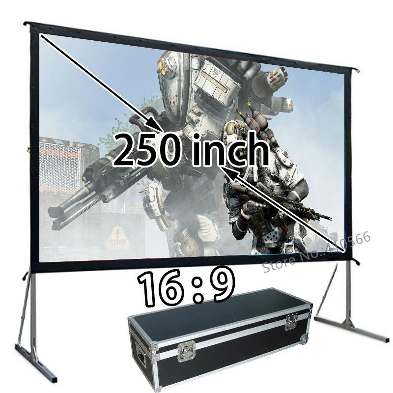 ∞Grande instalación rápida resistente Marcos proyector pantalla de ...