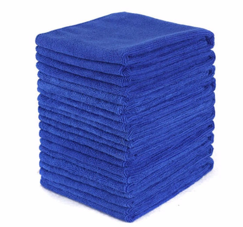 10 Piece Towel 10pcs Wash Cloth Blue No Scratch Soft Polishing Home Detailing Kit Tool 30*30cm 10x Absorbent Hot Selling #YL1|Car Towel| |  - title=