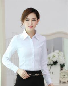 zapatos clasicos ahorrar estilo de moda 2018 camisas blancas de manga larga para mujer, cultivan la moralidad,  trajes carrera, hacen blanco shirt ZH 35