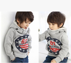 Autumn and winter clothes hedging long sleeved fleece sweater jacket boys frozen kids clothes