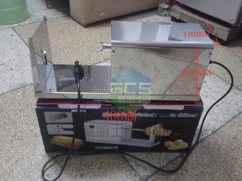 Free shipping~ 220V Automatic potato cutter electric spiral potato slicer potato extract powder 1kg free shipping