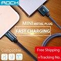 Rocha Original Cabo de Dados USB Charger Cable & Sync Nylon Trançado rápido cabo de carregamento usb para iphone 7 plus 6 6 s se 5S 5 ipad