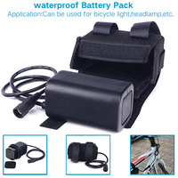 Waterproof 8 4V 8800mAh 4x18650 Rechargeable Battery Pack For LED Bicycle Lights Lithium Batteries Bicycle Accessories