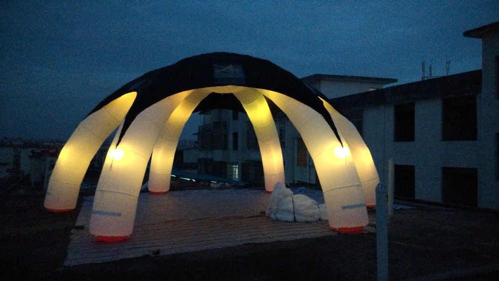 hot sale multi-color LED inflatable Halloween spider tent for Halloween event with removable cover In USA hot sale indian wood tent teepee tents for sale for sale teepee tent for party