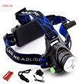 Hot Recarregável CREE XML T6 2000 Lumens Zoom Head Lamp LED Farol + 18650 Bateria 4200 mAh LEVOU Farol Lanterna lanterna