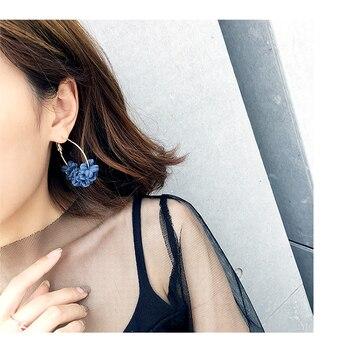 New Arrivals Fashion Petal Combination Geometric Big Circle Hoop Earrings Women Jewelry 1