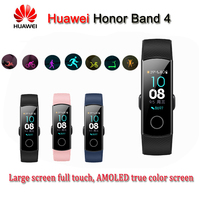 2018 NEW Honor Band 4 Smart Bracelet 50m Waterproof Fitness Tracker Touch Screen Heart Rate Monitor Display Call Message Show