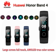 Original Honor Band 4 Smart Bracelet 50m Waterproof Fitness Tracker Touch Screen Heart Rate Monitor Display Call Message Show