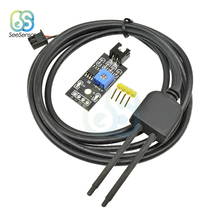Soil Moisture Sensor Detector Module Soil Moisture Test Soil Humidity Test Corrosion Resistance Probe new capacitive soil moisture sensor not easy to corrode wide voltage wire for arduino