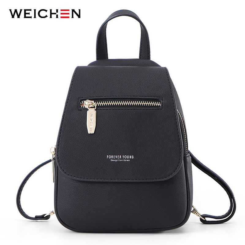 WEICHEN NEW Fashion Women Backpack  Multi-Function Ladies Girl Backpacks Small High Quality Female Mochila Bolsos Shoulder Bag