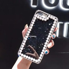 XINGDUO phone case for Samsung Note 9 8 bling Stars moon Luxury Pearl Jewelled cover S10 S9 S8 Plus/A8 A7 2018/M10 M20