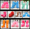 NK 10 pairs Doll Shoes Fashion Cute Colorful Assorted shoes for Barbie Doll with Different styles High Quality Baby Toy 003A