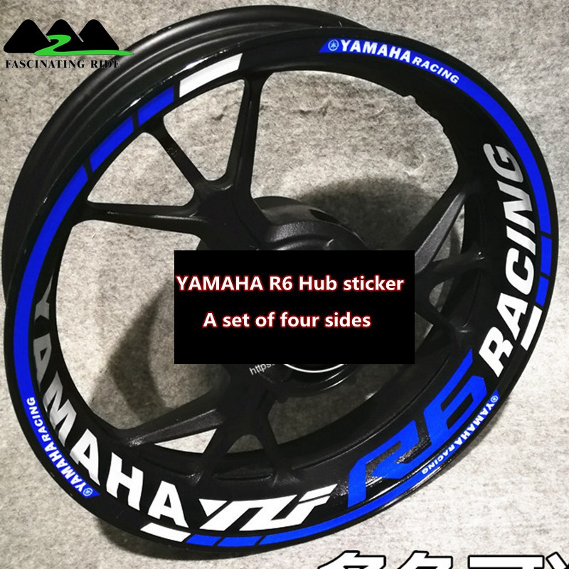 For YAMAHA R6 Motorcycles Waterproof Reflective Sticker  Motorcycles Individualization Wheel Stickers Reflective Rim Stripe Tape