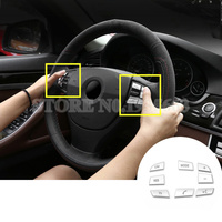 For BMW 5 Series F10 F11 Inner Steering Wheel Button Trim Cover 2014 2016 7pcs