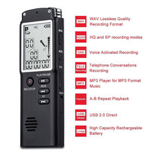 Rechargeable Audio Voice Recorder Professional 96 Hours Activated Recorder Dictaphone WAV MP3 Lossless Player with LCD Screen цена и фото