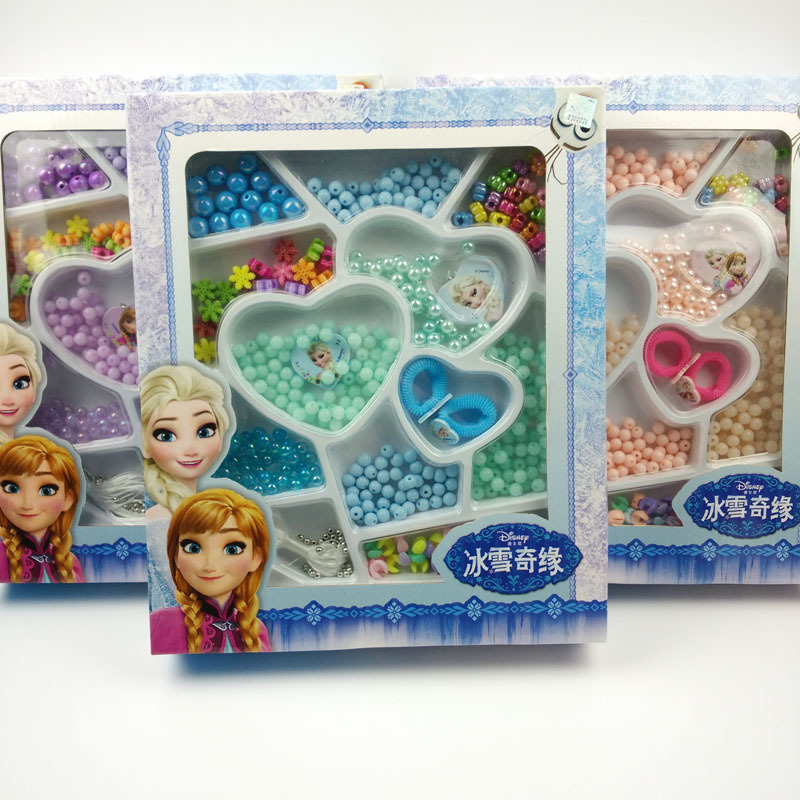 Disney Aisha Sofia Princess Classic Toys Girls DIY Bracelet Jewelry Kids Bead Set Educational 3D Puzzle Beads Hand Making стоимость