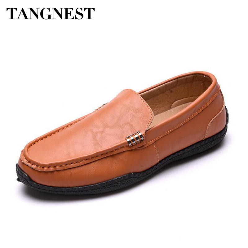 Tangenst 2017 Man Flats Man Loafers Fashion Round Toe Slip On Breathable Moccasin Men Lazy Driving Shoes Man Casual Flat XMR2569 klywoo breathable men s casual leather boat shoes slip on penny loafers moccasin fashion casual shoes mens loafer driving shoes