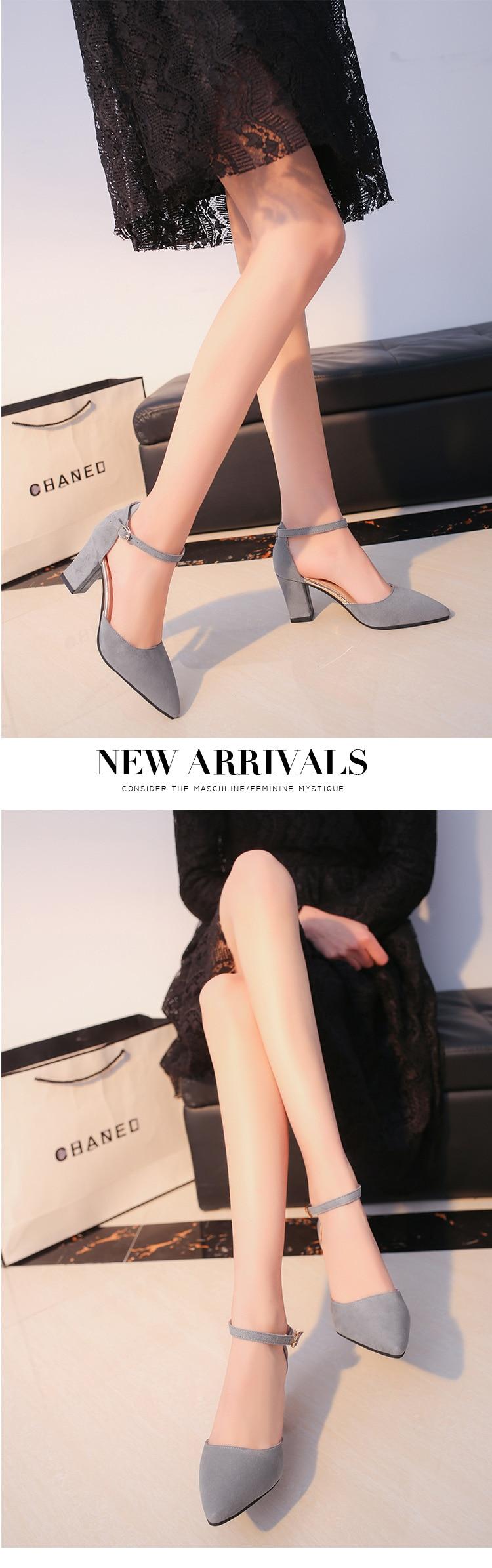 HTB1yB8Caf5TBuNjSspmq6yDRVXaM 2019 Fashion High Heels Newest Women Pumps Summer Women Shoes Thick Heel Pumps Comfortable Shoes Woman Platform Shoes s0013