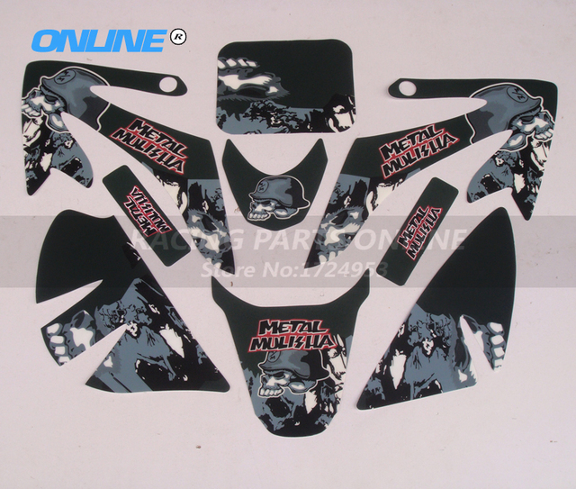Free Shipping 3M GRAPHICSBACKGROUNDS DECAL STICKERS Kits Metalmulisha For Honda CRF50 CRF50F STYLE Pit Dirt Bike