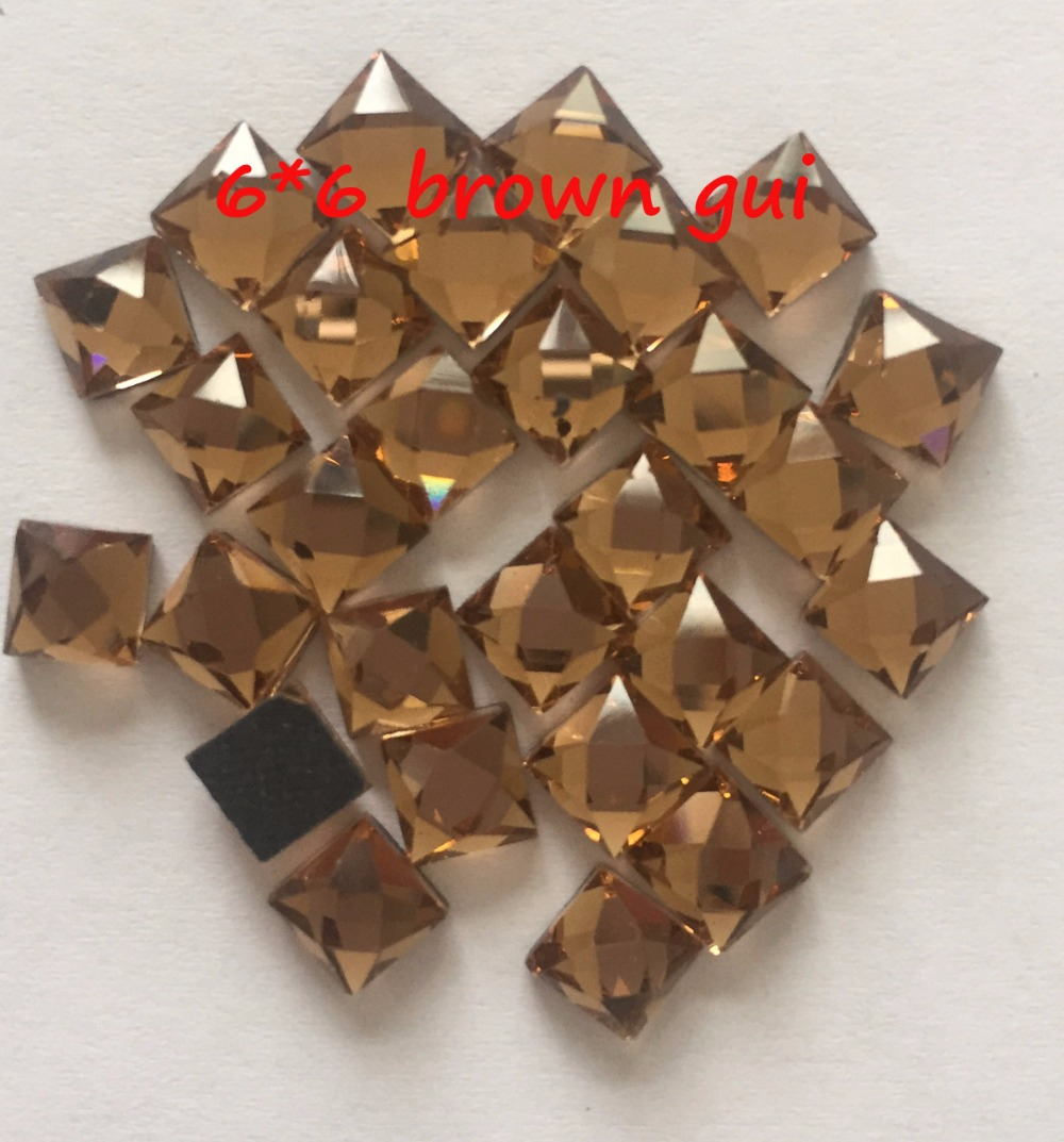 shap rhinestones Hot Sale square 6mm*6mm 4mm*4mm 200pcs/pack Glass Flatback  Crystal Hotfix Rhinestones free shipping-in Rhinestones from Home & Garden  on ...