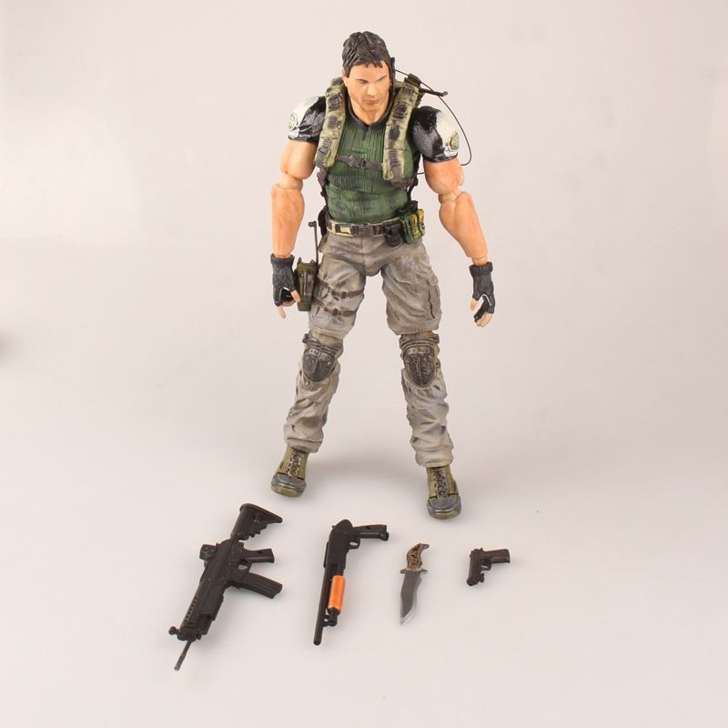 XINDUPLAN Play Arts Chris Redfield Resident Evil S.T.A.R.S. Movable RPG PS4 Action Figure Toys 24cm Gifts Collection Model 0856 цена и фото