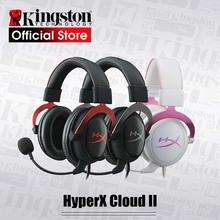 קינגסטון HyperX ענן השני משחקי אוזניות עם מיקרופון Hi Fi 7.1 סראונד למחשב & PS4