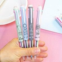 цена 5 in 1 Multicolor Ballpoint Pens Kawaii Cactus Multifunction Ball Pens for School Writing Marking Stationery Office Supplies онлайн в 2017 году
