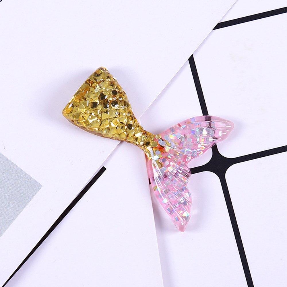 12pcs Resin gold powder Mermaid tail FlatBack stone Embellishment DIY scrapbooks