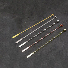 Stainless Steel Threaded Twisted Mixing Stir Bar Spoons Creative Cocktail Stirrers Sticks for Wedding Party Bartender