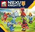 6pcs/lot Knights Building Block  Clay Macy Lance Aaron Jestro Figures Gift  Compatible Nexus Legoelieds