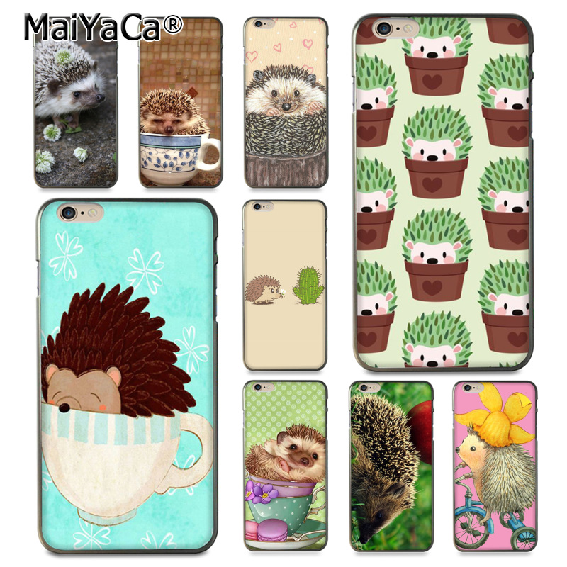 MaiYaCa Hedgehog Cute in Teacup Animal Art New Arrival Phone Case for Apple iPhone 8 7 6 6S Plus X 5 5S SE 5C case Cover